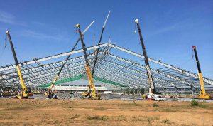 Movimientos de tierra para nivelación de plataforma Parque Industria Santa Cruz